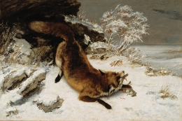 Fox in the Snow, Gustave Courbet, 1860 (1979.7.FA)