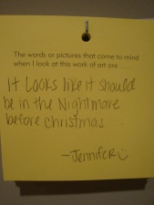 The response Jennifer left on the wall earlier that day!