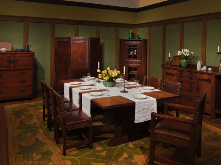 dining room created to show Stickley s furniture in 1903        and. The Craftsman   Dallas Museum of Art Uncrated