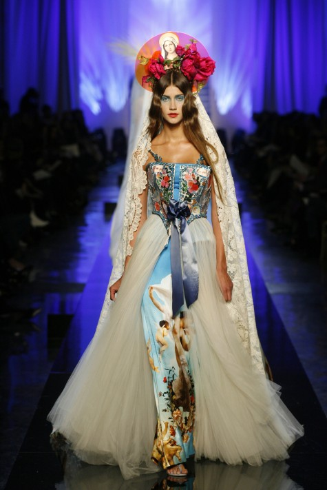 "Jean Paul Gaultier, Les Vierges [Virgins] collection, ""Apparitions"" dress, Haute couture, spring/summer 2007, © P. Stable/Jean Paul Gaultier"