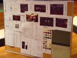 Jessica's project board for a decorative arts gallery