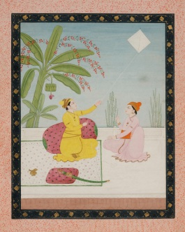 Prince Flying a Kite, Kangra style, Pahari