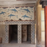 Reconstructed Dolphin Fresco in the Queens Rooms, Knossos