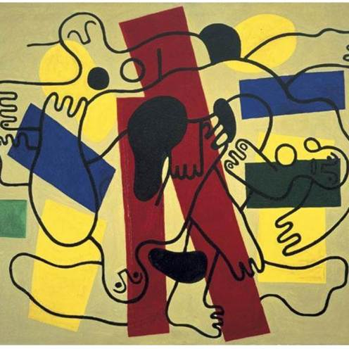 Fernand Leger, The Divers (Red and Black), 1948, Dallas Museum of Art, Foundation for the Arts Collection, gift of the James H. and Lillian Clark Foundation