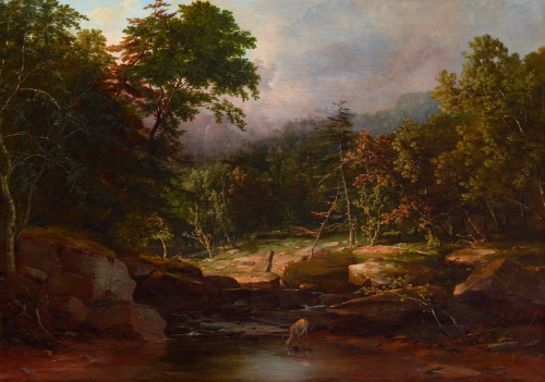 George Inness,Stream in the Mountains [formerly: In the Woods], c. 1850, oil on canvas, Dallas Museum of Art, bequest of Cecil A. Keating