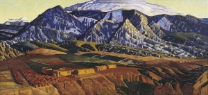 Ernest Blumenschein, Mountains Near Taos, 1926-1934, oil on canvas, Dallas Museum of Art, gift of Helen Blumenschein