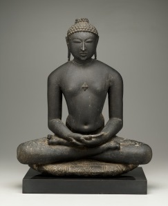 Jina, 12th century, black stone, Dallas Museum of Art, gift of the Junior Associates