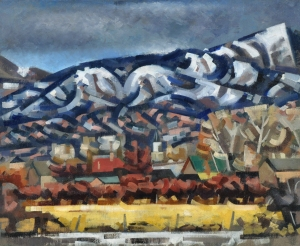 Loren Mozley, Snowy Range, 1948, oil on canvas, Collection of Judge and Mrs. B. Michael Chitty