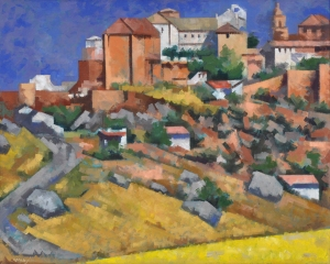 Loren Mozley, View of Ronda, c. 1969, oil on panel, Private Collection