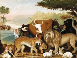 Edward Hicks, The Peaceable Kingdom, c. 1846-1847, Dallas Museum of Art, The Art Museum League Fund
