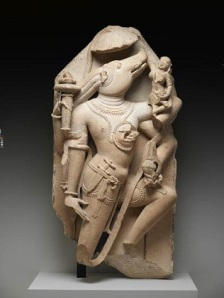 Vishnu as Varaha, 10th century, sandstone, Dallas Museum of Art, gift of David T. Owsley via the Alvin and Lucy Owsley Foundation and the Alconda-Owsley Foundation, E.E. Fogelson and Greer Garson Fogelson Fund, General Acquisitions Fund, Wendover Fund, and gift of Alta Brenner in memory of her daughter Andrea Bernice Brenner-McMullen