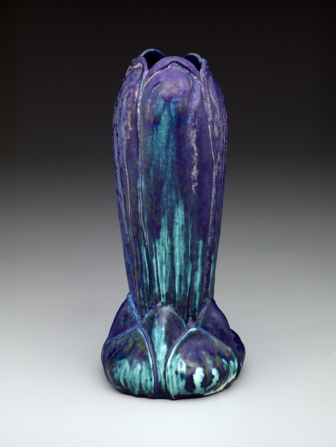 Creative Director: Louis Comfort Tiffany, Vase, c. 1905-1919, earthenware, Dallas Museum of Art, Discretionary Decorative Arts Fund