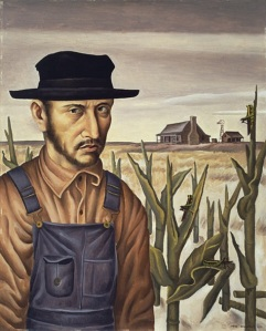 Jerry Bywaters, Share Cropper, 1937, oil on Masonite, Dallas Museum of Art, Allied Arts Civic Prize, Eighth Annual Dallas Allied Arts Exhibition, 1937