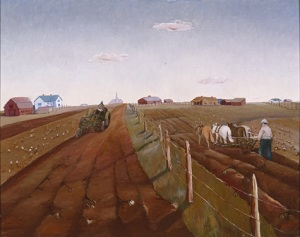 Merritt Mauzey, Neighbors, 1938, oil on masonite, Dallas Museum of Art, Arthur Kramer and Fred Florence Purchase Prize, Ninth Annual Dallas Allied Arts Exhibition, 1938 1938