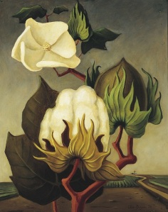Otis Dozier, Cotton Boll, 1936, oil on Masonite, Dallas Museum of Art, gift of Eleanor and C. Thomas May, Jr.