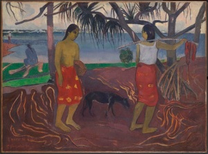 Paul Gauguin, Under the Pandanus (I Raro te Oviri), 1891, oil on canvas, Dallas Museum of Art, Foundation for the Arts Collection, gift of the Adele R. Levy Fund, Inc.