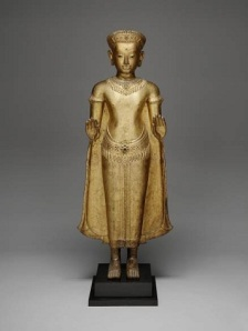 Buddha Sakyamuni, Khmer, c. 13th century, gilded bronze, Dallas Museum of Art, gift of David T. Owsley via the Alvin and Lucy Owsley Foundation, the Cecil and Ida Green Acquisition Fund, and Wendover Fund