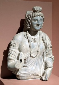 Bust of a bodhisattva, Kushan, 2nd-3rd century, gray schist, Dallas Museum of Art, gift of Margaret J. and George V. Charlton