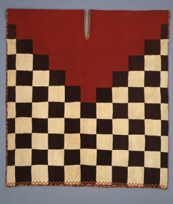 Tunic with checkerboard pattern and stepped yoke, Inca culture, Late Horizon, 1476-1534, camelid fiber, Dallas Museum of Art, The Eugene and Margaret McDermott Art Fund, Inc. in honor of Carol Robbins