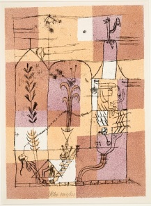 Paul Klee, Hoffmanesque Scene (Hoffmaneske Szene), 1921, color lithograph, Dallas Museum of Art, gift of Stuart Gordon Johnson by exchange; General Acquisitions Fund; and The Patsy Lacy Griffith Collection, gift of Patsy Lacy Griffith by exchange