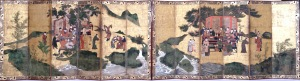 The Eight Immortals of the Wine Cup, Japan, c. 1600, ink and pigment on gold, Dallas Museum of Art, The Eugene and Margaret McDermott Art Fund, Inc.