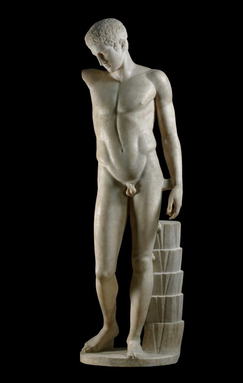 Marble statue of a victorious athlete, Roman period, first century AD, after a lost Greek original of about 430 BC, GR 1857,0807.1 (Sculpture 1754) © The Trustees of the British Museum (2013). All rights reserved.