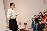Newman tells a story inspired by the works of Cindy Sherman during April's Late Night.