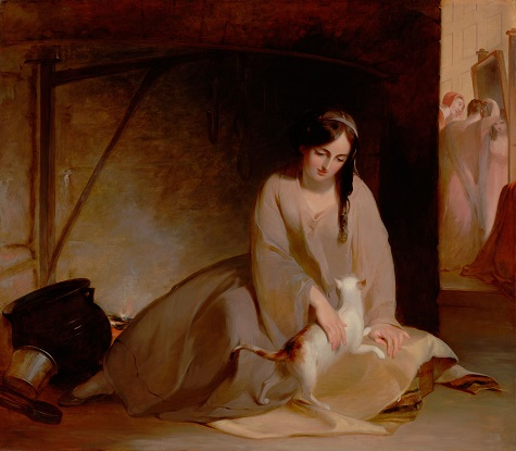 Thomas Sully, Cinderella at the Kitchen Fire, 1843, oil on canvas, Dallas Museum of Art, gift of the Pauline Allen Gill Foundation