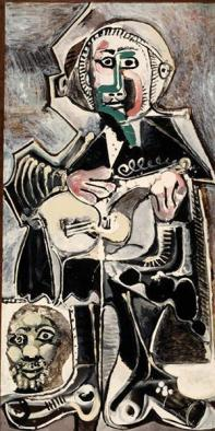 Pablo Picasso, The Guitarist, 1965, Dallas Museum of Art, The Art Museum League Fund