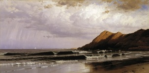 Alfred Thompson Bricher, Time and Tide, c. 1873, oil on canvas, Dallas Museum of Art, Foundation for the Arts Collection, gift of Mr. and Mrs. Frederick Mayer