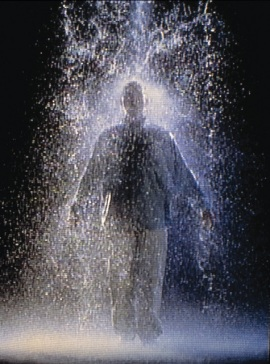 Bill Viola, The Crossing, 1996, two-channel video/sound installation, Dallas Museum of Art, Lay Family Acquisition Fund, General Acquisitions Fund, and gifts from an anonymous donor, Howard E. Rachofsky, Gayle Stoffel, Mr. and Mrs. William T. Solomon, Catherine and Will Rose, and Emily and Steve Summers, in honor of Deedie Rose
