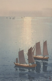Hiroshi Yoshida, Glittering Sea, 1926, polychrome woodblock print, Dallas Museum of Art, the Abram C. Joseph and Ruth F. Ring Collection, gift of Miss Ruth F. Ring