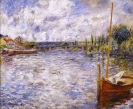 Pierre-Auguste Renoir, The Seine at Chatou, 1874, oil on canvas, Dallas Museum of Art, The Wendy and Emery Reves Collection