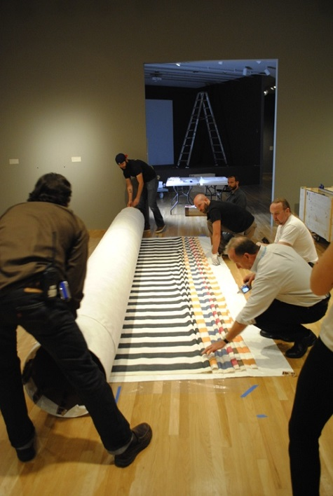 Sanction of the Museum being unrolled for the first time at the DMA.