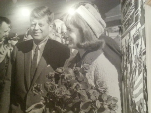 The President and Mrs. John F. Kennedy arriving at Love Field, Dallas, November 22, 1963, Courtesy of The Sixth Floor Museum at Dealey Plaza, Dallas Times-Herald Collection