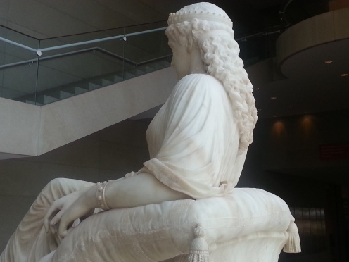 William Wetmore Story, Semiramis, designed 1872, carved 1873, Dallas Museum of Art, gift of Morynne and Robert E. Motley in memory of Robert Earl Motley, Jr., 1942-1998