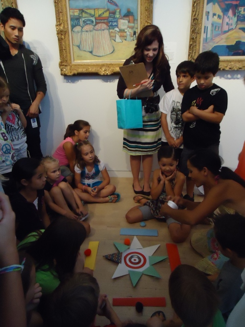 Visitors celebrate the summer by creating games inspired by the collection.