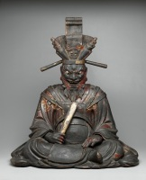 Emma-O, Momoyama period, Japan, late 16th-early 17th century, Wood, lacquer, gold gilt, and glass, Dallas Museum of Art, Wendover Fund in memory of Alfred and Juanita Bromberg and the Cecil and Ida Green Acquisition FundStephen Lapthisophon's studio, Dallas, Texas, 2013