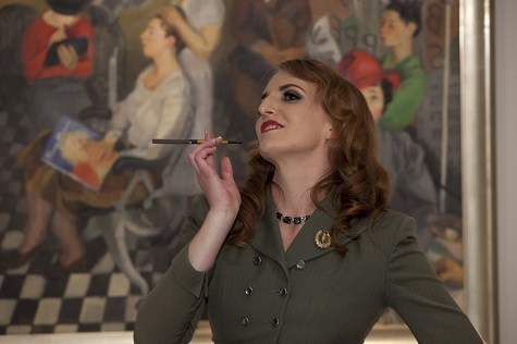 Amanda with her cigarette holder (don't worry, there were no cigarettes!)