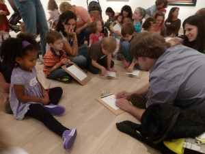 John leading a homeschool class for ABS month in the DMA's galleries