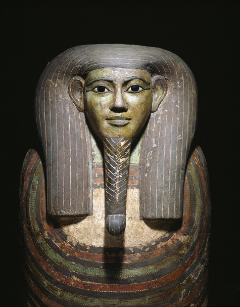 Coffin of Horankh, Late Period, c. 700 B.C., Thebes, Egypt, wood, gesso, paint, obsidian, calcite, and bronze, Dallas Museum of Art, the Cecil and Ida Green Acquisition Fund