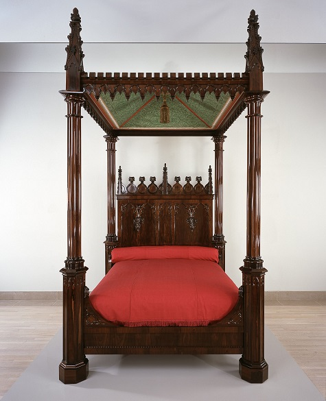 Crawford Riddell, Bed, c. 1844, Brazilian rosewood, tulip poplar, and yellow pine, Dallas Museum of Art, gift of three anonymous donors, Friends of the Decorative Arts Fund, General Acquisitions Fund, Discretionary Decorative Arts Fund, and the Boshell Family Foundation