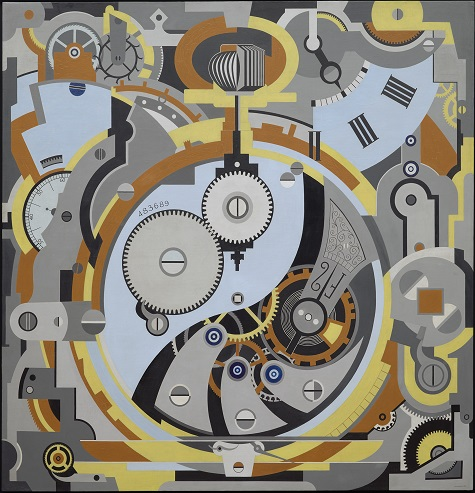 Gerald Murphy, Watch, 1925, oil on canvas, Dallas Museum of Art, Foundation for the Arts Collection, gift of the artist