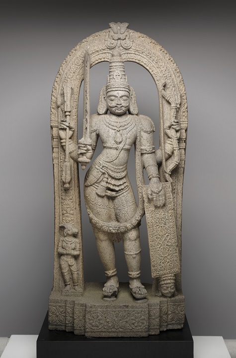 Virabhadra, Karnataka or Kerala, India, 16th–17th century, stone, Dallas Museum of Art, gift of Alvin and David T. Owsley via the Alvin and Lucy Owsley Foundation in memory of Colonel Alvin M. Owsley, with the assistance of the Wendover Fund