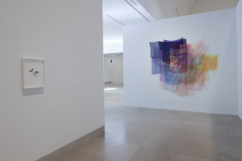 Jim Hodges, With the Wind, 1997, scarves and thread, Collection Glenn and Amanda Fuhrman NY, Courtesy The FLAG Art Foundation