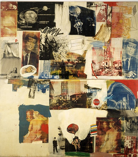 Robert Rauschenberg, Skyway, 1964, oil and silkscreen on canvas, Dallas Museum of Art, The Roberta Coke Camp Fund, The 500, Inc., Mr. and Mrs. Mark Shepherd, Jr. and General Acquisitions Fund