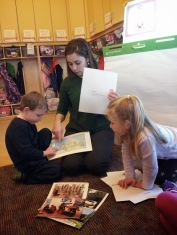 """""""The children were very excited about receiving mail, especially from their former teacher."""""""