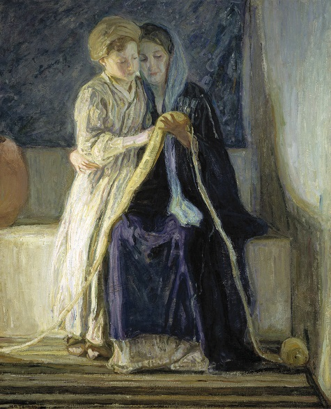 Henry Ossawa Tanner, Christ and His Mother Studying the Scriptures, c. 1909, oil on canvas, Dallas Museum of Art, Deaccession Funds