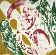 Lee Krasner, Pollination, 1968, oil on canvas, Gift of Mr. and Mrs. Algur H. Meadows and the Meadows Foundation, Incorporated