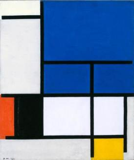 Piet Mondrian, Composition with Large Blue Plane, Red, Black, Yellow, and Gray, 1921